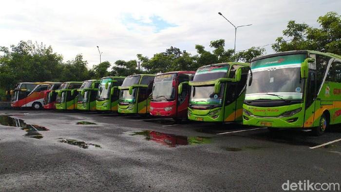 Suasana Terminal Bus Ir Soekarno Klaten, Minggu (5/4/2020) siang