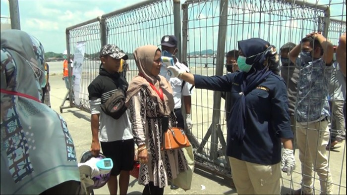 Pengawasan terkait Corona di Pelabuhan Samarinda