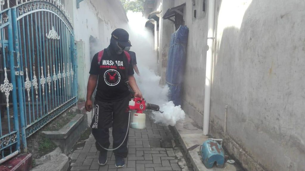 Pandemi Corona, Relawan Ingatkan Warga Pacitan Tak Lengah Demam Berdarah