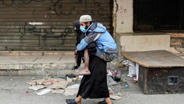 Salah satu pengungsi di Kamp pada Lebanon (Anwar/AFP)