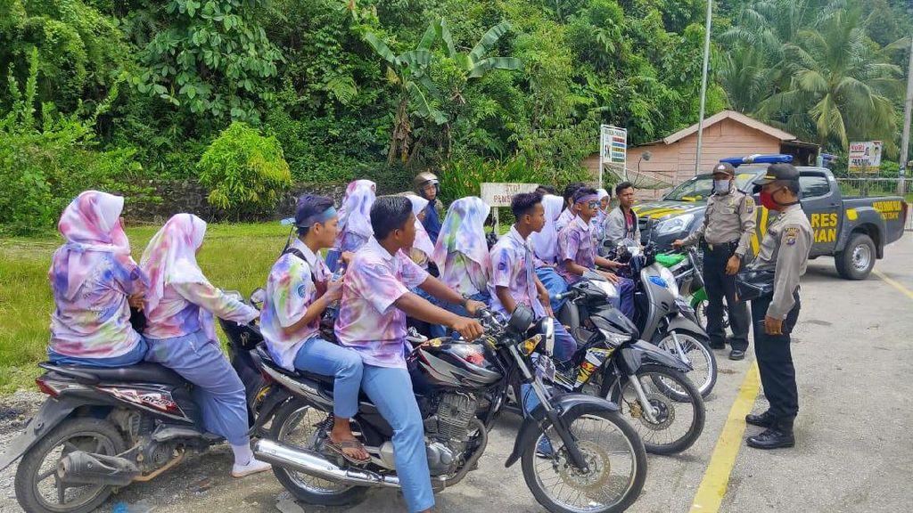 Jangan Ditiru! Pelajar Nekat Konvoi Coret-coret di Asahan Saat Pandemi Corona