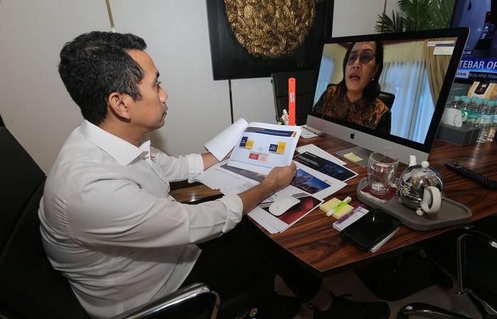 Komisi XI bersama Menteri Keuangan, Gubernur Bank Indonesia, Ketua OJK dan Ketua LPS mneggelar rapat dengar pendapat terkair kondisi perekonomian di tengah wabah Corona.