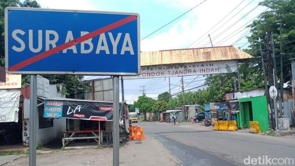 Sempat Ditutup Warga, Jalan Perbatasan Surabaya-Sidaorjo Kembali Dibuka