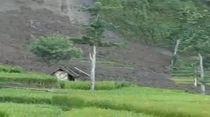Tertimbun Longsoran Tebing, 3 Hektare Sawah di Cianjur Terancam Gagal Panen