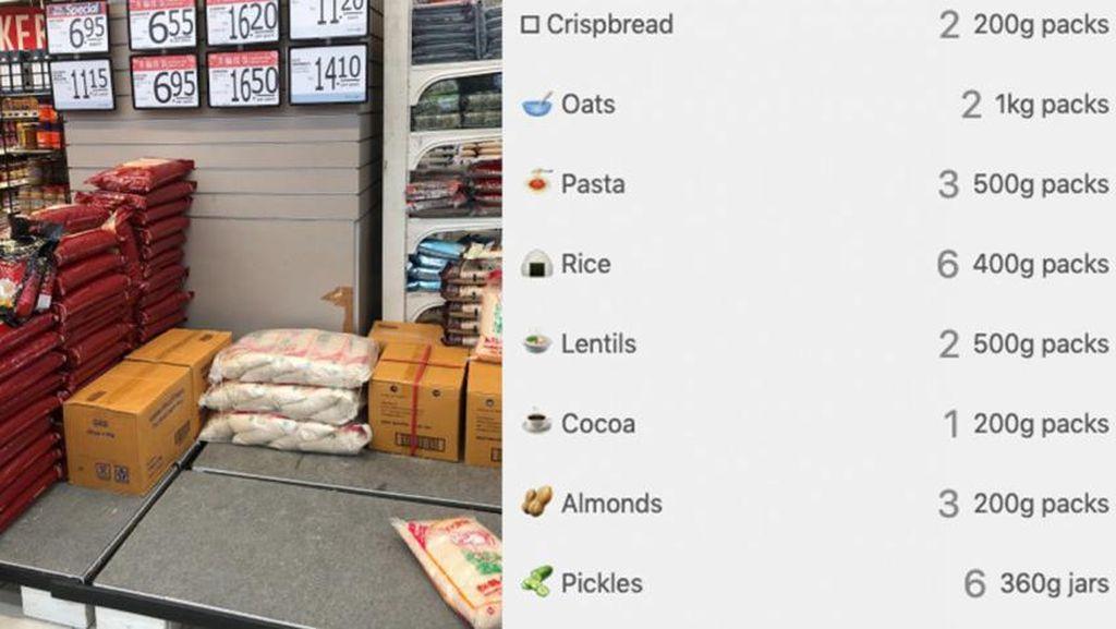 Tak Perlu Panic Buying, Hitung Kebutuhan Makanan Karantina Pakai Kalkulator Ini
