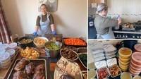 Wanita Ini Masak 80 Porsi Makanan Setiap Hari di Dapur Rumahnya