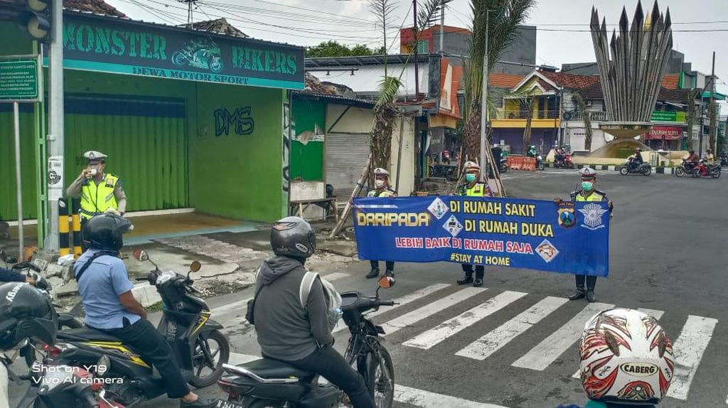 Gelar Operasi Semeru, Polisi Gresik Juga Sosialisasikan Tak Mudik Cegah Corona