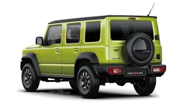 Sketsa gambar Suzuki Jimny 5 pintu