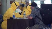 Momen 154 Pekerja Migran dari Malaysia Jalani Rapid Test