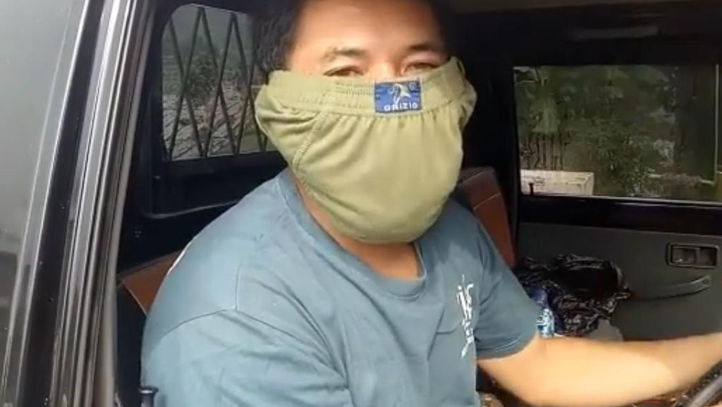 Viral Sopir Pakai Masker dari Celana Dalam, Dokter Kulit Nitip Pesan