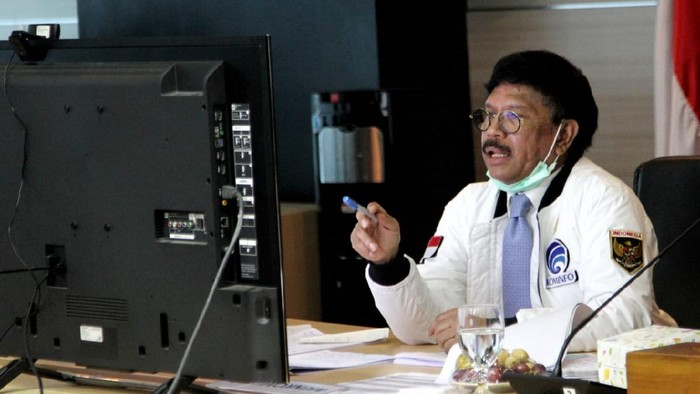 Rapat Kerja Virtual Menkominfo dengan Komisi I DPR RI