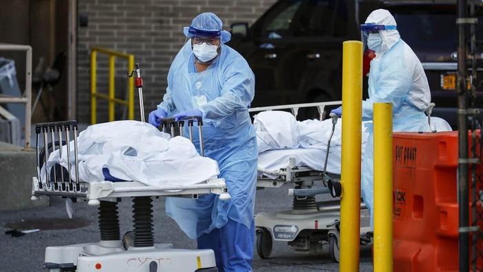 Korban jiwa karena virus corona terus berjatuhan di Amerika Serikat. Kini jumlah kematian menembus angka 10 ribu jiwa.