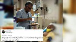 Mulia! Dokter Ini Suapi Makanan ke Pasien yang Tak Bisa Dikunjungi Keluarganya