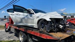 Ambyar, BMW M5 Harga Rp 5 Miliar Baru Keluar Dealer Langsung Babak Belur