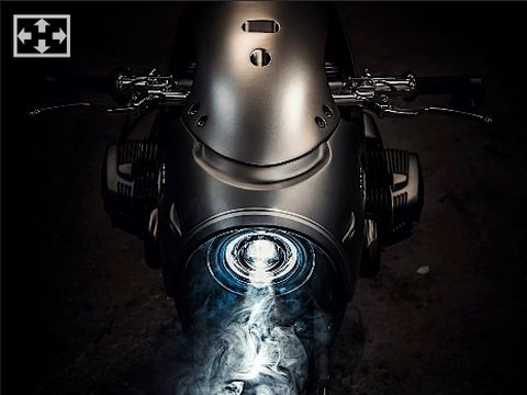 Modifikasi BMW R NineT 'Lost in Space Robot'