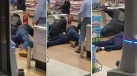 Iseng Ludahi Makanan di Supermarket, Pria Ini Dipukuli Pengunjung