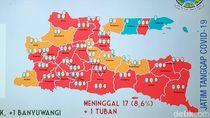 Tambah Tuban, Total Ada 25 Zona Merah Corona di Jatim