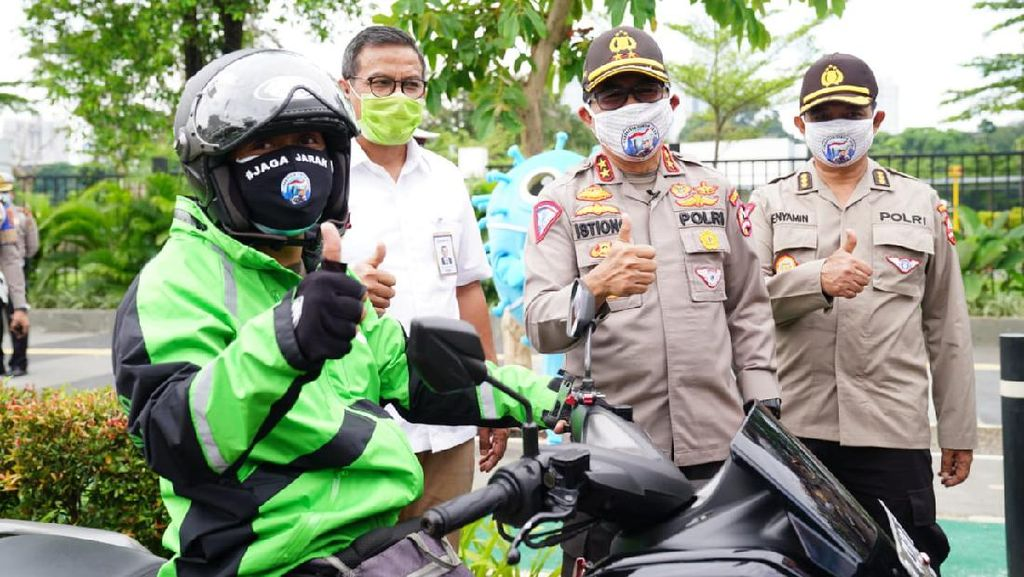 Deteksi Suhu Tubuh Ojol Pakai Drone, Polri Gandeng BRI Cegah Corona