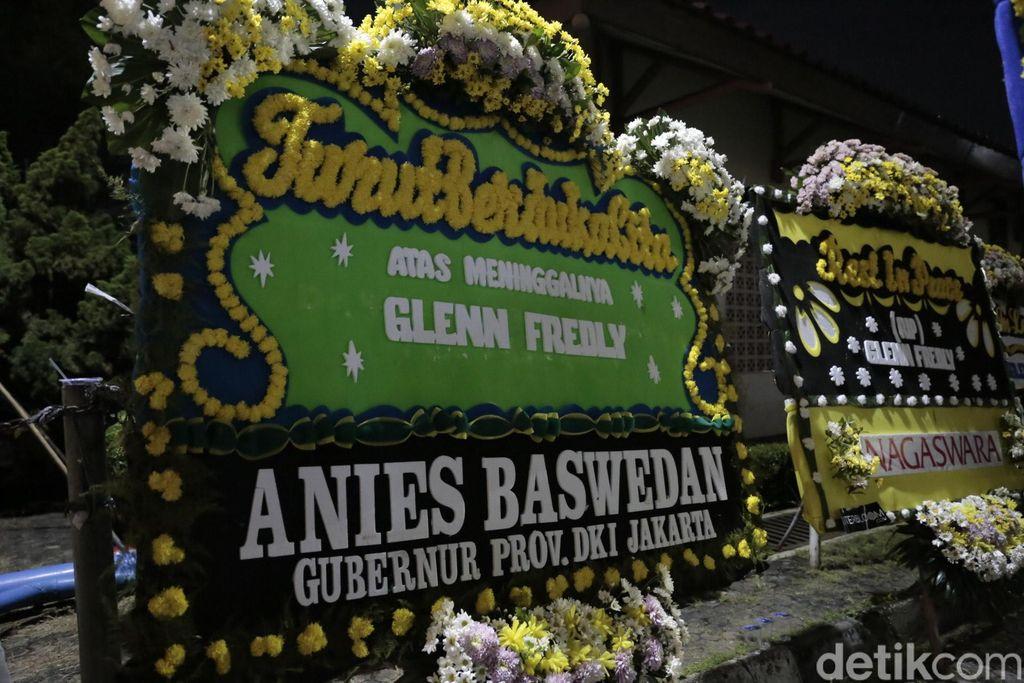 Glenn Fredly meninggal dunia, anies baswedan kirim karangan bunga