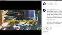 Mantap, Pak Polisi Modif Honda BeAT Jadi Armada Penyemprot Disinfektan