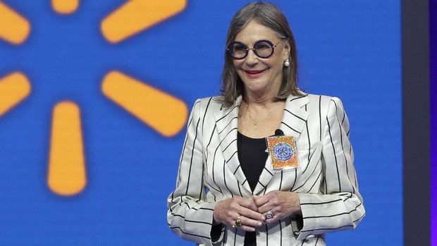 Alice Walton, daughter of Wal-Mart founder Sam Walton, attends the Wal-Mart shareholder meeting in Fayetteville, Ark., Friday, June 5, 2015. (AP Photo/Danny Johnston)