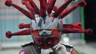 Kepolisian Sosialisasi Kenakan Masker Anti Virus Corona
