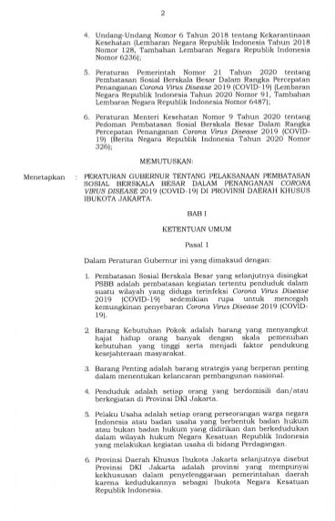 Mulai Berlaku, Ini Isi Lengkap Pergub PSBB Jakarta!