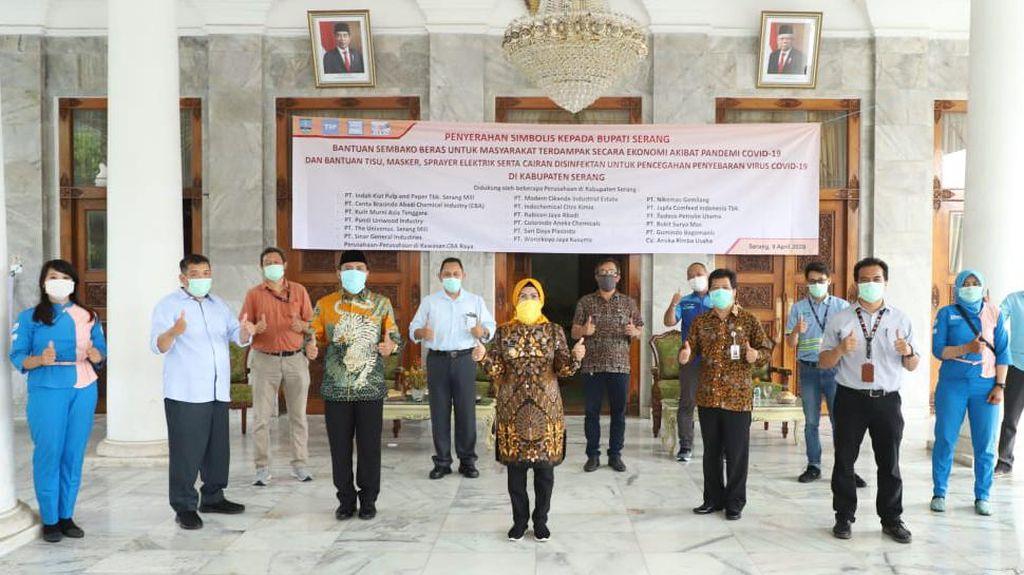 18 Perusahaan di Kabupaten Serang Bantu Tangani COVID-19