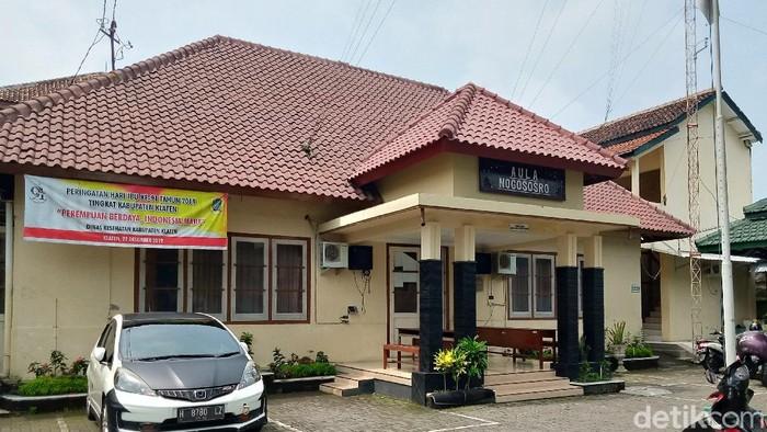 Kantor Dinas Kesehatan Pemkab Klaten.