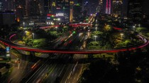 Merah Putih Jakarta Malam Ini untuk Para Tenaga Medis