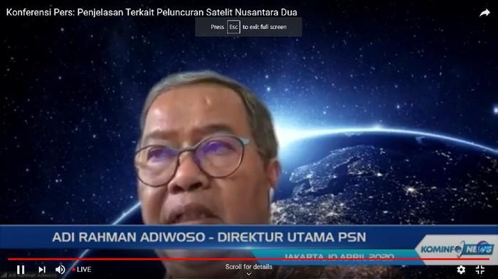 Direktur Utama PSN Adi Rahman Adiwoso