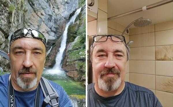 Dulu bisa selfie di depan air terjun yang indah, sekarang cukup di depan shower kamar mandi.