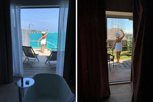 Dulu keluar kamar langsung berhadapan dengan laut, sekarang lagi-lagi melihat halaman rumah.