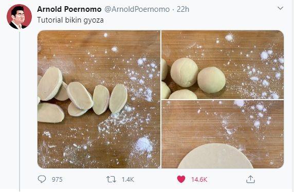 Chef Arnold Poernomo masak gyoza