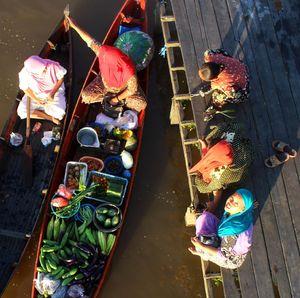 Pasar Apung Desa Lok Baintan Loyo Diterjang Corona
