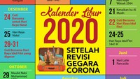 Kalender Libur 2020 Edisi Revisi Gegara Corona