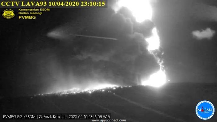 Letusan Gunung Anak Krakatau, Jumat (10/4)