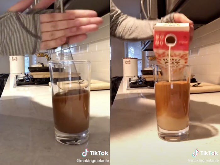 Tips mengocok dalgona coffee pakai whisk