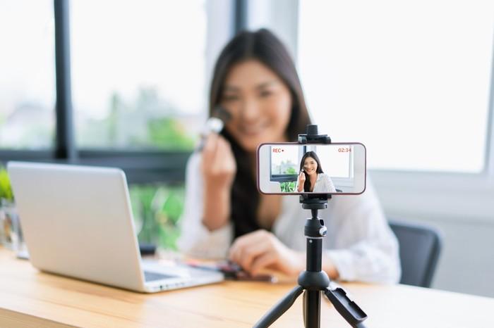 Ilustrasi vlog