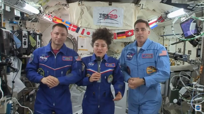Tiga astronaut NASA di ISS