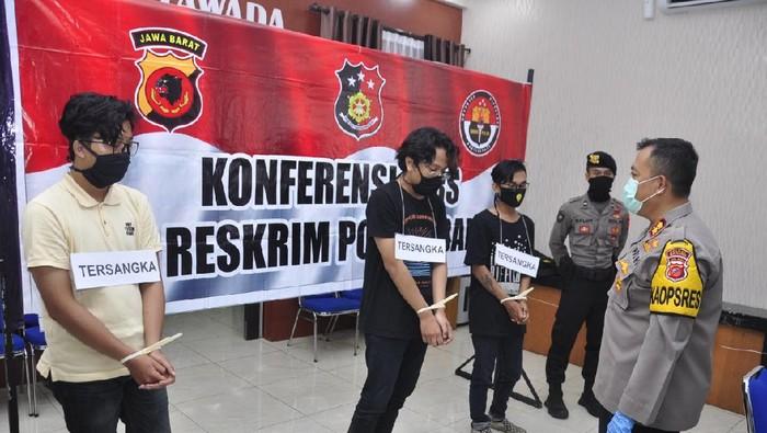 Tiga pelaku vandalisme di Kota Banjar