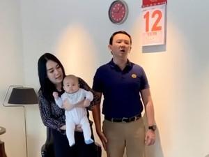 Ahok Ungkap Perasaannya Punya Bayi di Usia 53 Sambil WFH