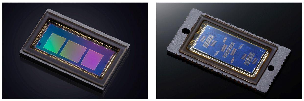 Kiri: Modul autofocus baru dengan desain yang resolusi yang lebih tinggi. Kanan: Modul AF kamera generasi sebelumnya, Canon 1DX II.