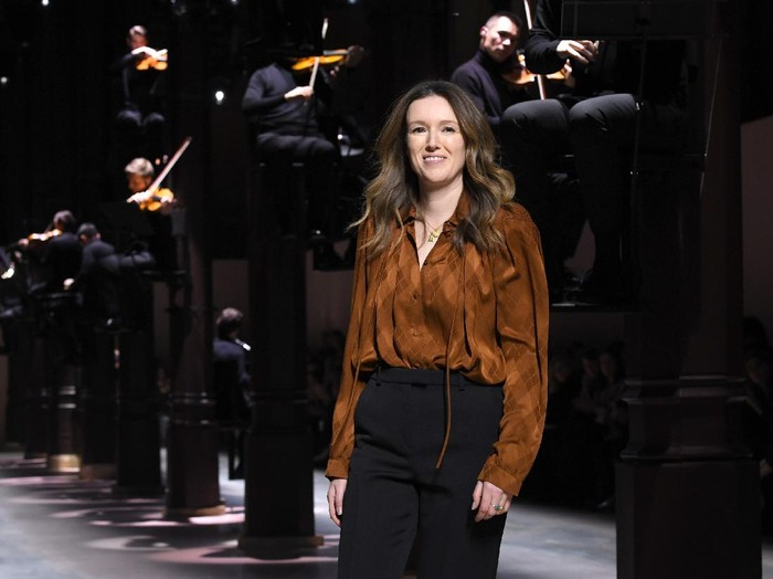 PARIS, FRANCE - JANUARY 21: Clare Waight Keller on the runway for the finale of the Givenchy Haute Couture Spring/Summer 2020 show as part of Paris Fashion Week on January 21, 2020 in Paris, France. (Photo by Pascal Le Segretain/Getty Images)