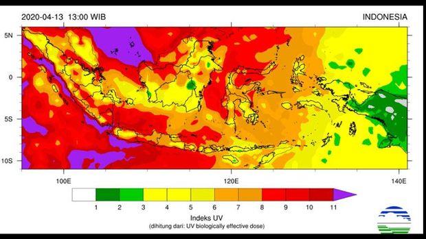UV Index 13 April