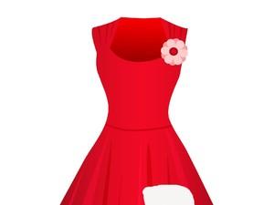 Tebak Gambar: Ada Berapa Lubang di Gaun Merah Ini?
