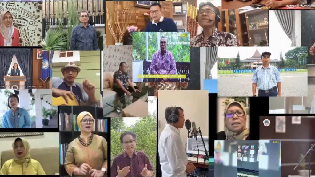 Keren! 33 Rektor Indonesia Nyanyi Bareng Rumah Kita