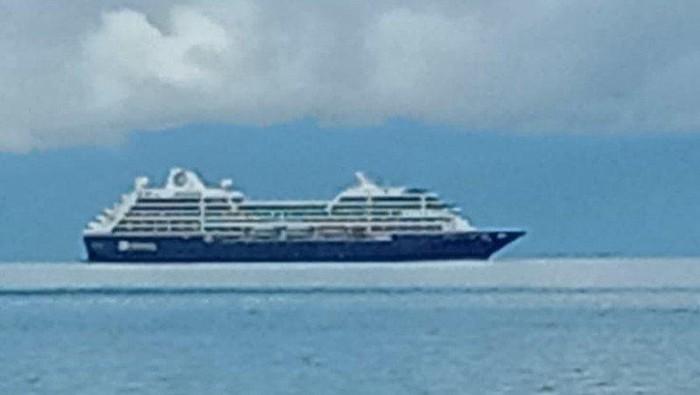 Kapal misteri yang dipotret warga Pulau Mansuar Raja Ampat. ANTARA/ Istimewa