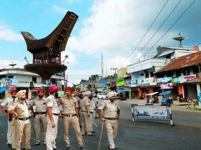 Meme polisi India ada di Sulsel (Internet)