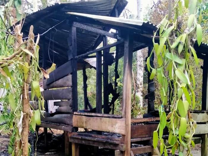 Rumah Pasutri di Makassar yang Terbakar